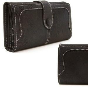 Handbags - New Black Bi-fold Wallet With Smooth Finish